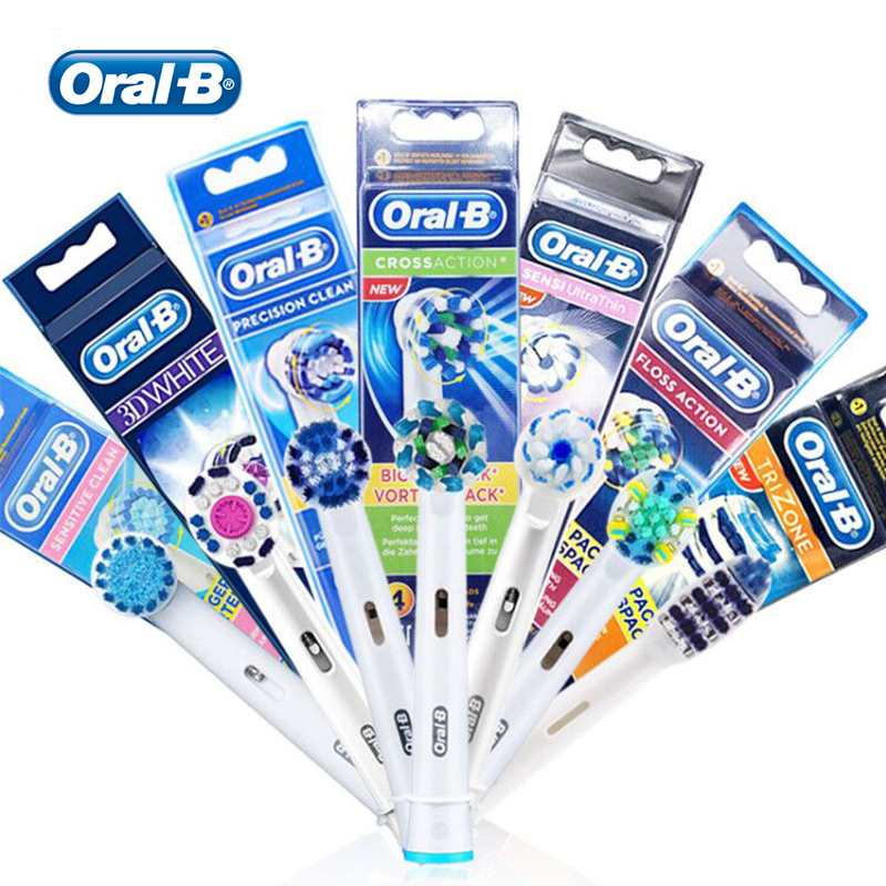 Oral B Electric Toothbrush Heads Replacement for Teeth Whitening Remove Plaque 360 Rotation Brush Head image