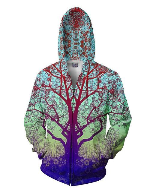 Lizhiyang Толстовка Для мужчин или wo Для мужчин Прохладный Творческий Объёмный рисунок (3D-принт) ветка модные осень-зима уличная Костюмы