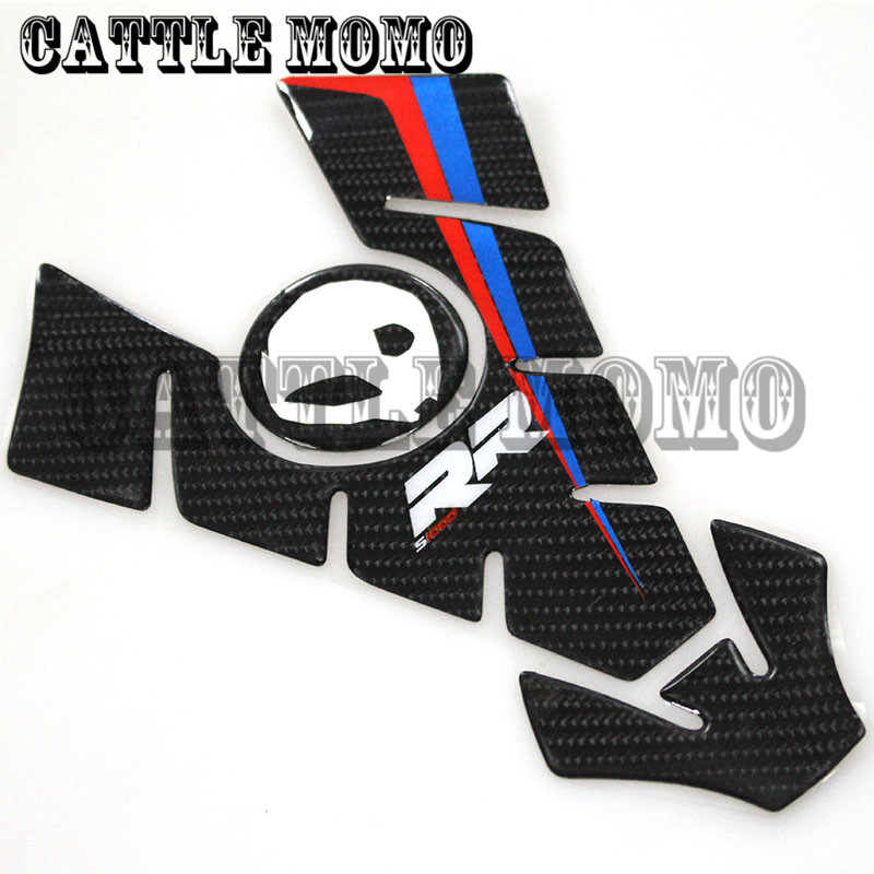 Motorcycle Carbon D Stickers Decal Emblem Protection Tank Pad Gas - Bmw motorcycle stickers and decals