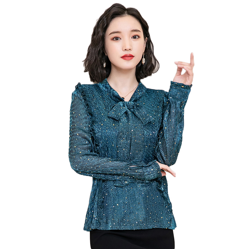 Korea Style Women Blouse Shirts 2018 Elegant Ruffles Women Tops Plus Size warm Solid Casual Loose Shirt blusas feminina NW1055 1