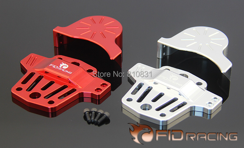 Freeshipping FID Center differential brace V2 and gear cover kit (silver and red color available) FOR LOSI 5IVE-T differential reverse gear and middle