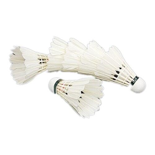 Good Deal  6PCS White Feather Shuttlecocks Badminton
