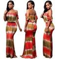 Женские элегантные платья макси сексуальная завернутый груди clubwear dress casual ladies printed dress женская мода bodycon long dress