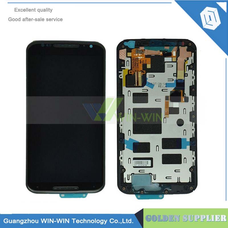 LCD For Motorola Moto X+1 X2 XT1092 XT1095 XT1097 LCD Display With Touch Screen Digitizer Assembly +Frame Free Shipping new original lcd replacements for motorola moto g xt1032 xt1033 lcd display touch digitizer screen with frame assembly tools