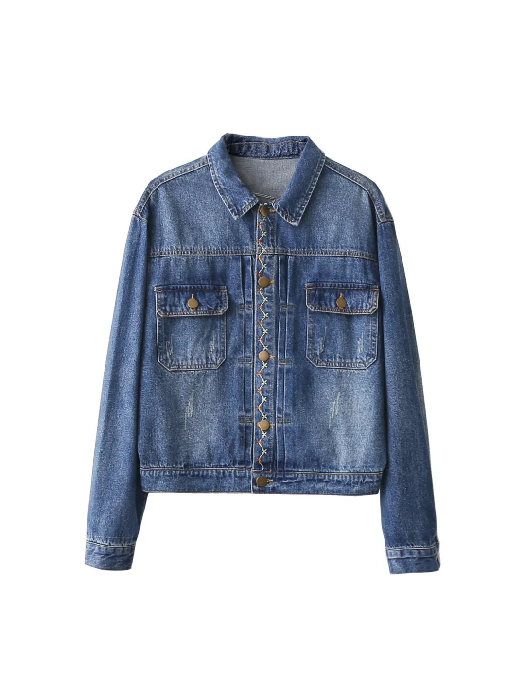 Plum Spring Autumn European Denim And Coat Women's Embroidered Fashion Wild Jacket New 0Ofwfnx1