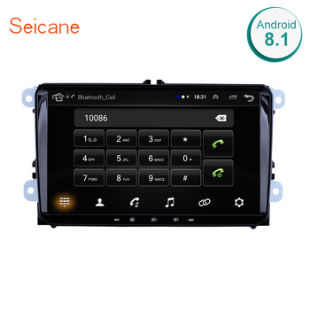 Seicane Car Radio GPS Navigation Headunit Player 2din Android 10.0 for VW Volkswagen SEAT LEON CUPRA Skoda Passat b5 b6 CC Polo image