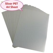 A4 Sliver PET Inkjet Label waterproof  plastic film Scratch resistance for ink Printer