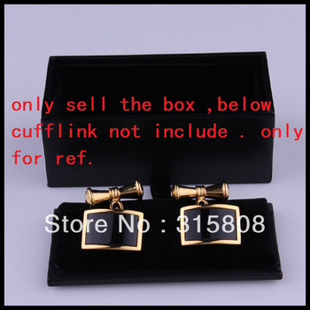 item image - New Man Black Rectangle Faux Leather Small Cufflinks Box 44pcs/lot 8x4x3cm Gift Boxes For Men (SELL BOX ONLY)