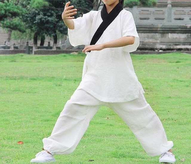 US $66 8 50% OFF|Unisex kids Short sleeve Summer linen wudang Tai chi  clothing shaolin monks kung fu martial arts uniforms children wushu suits  on
