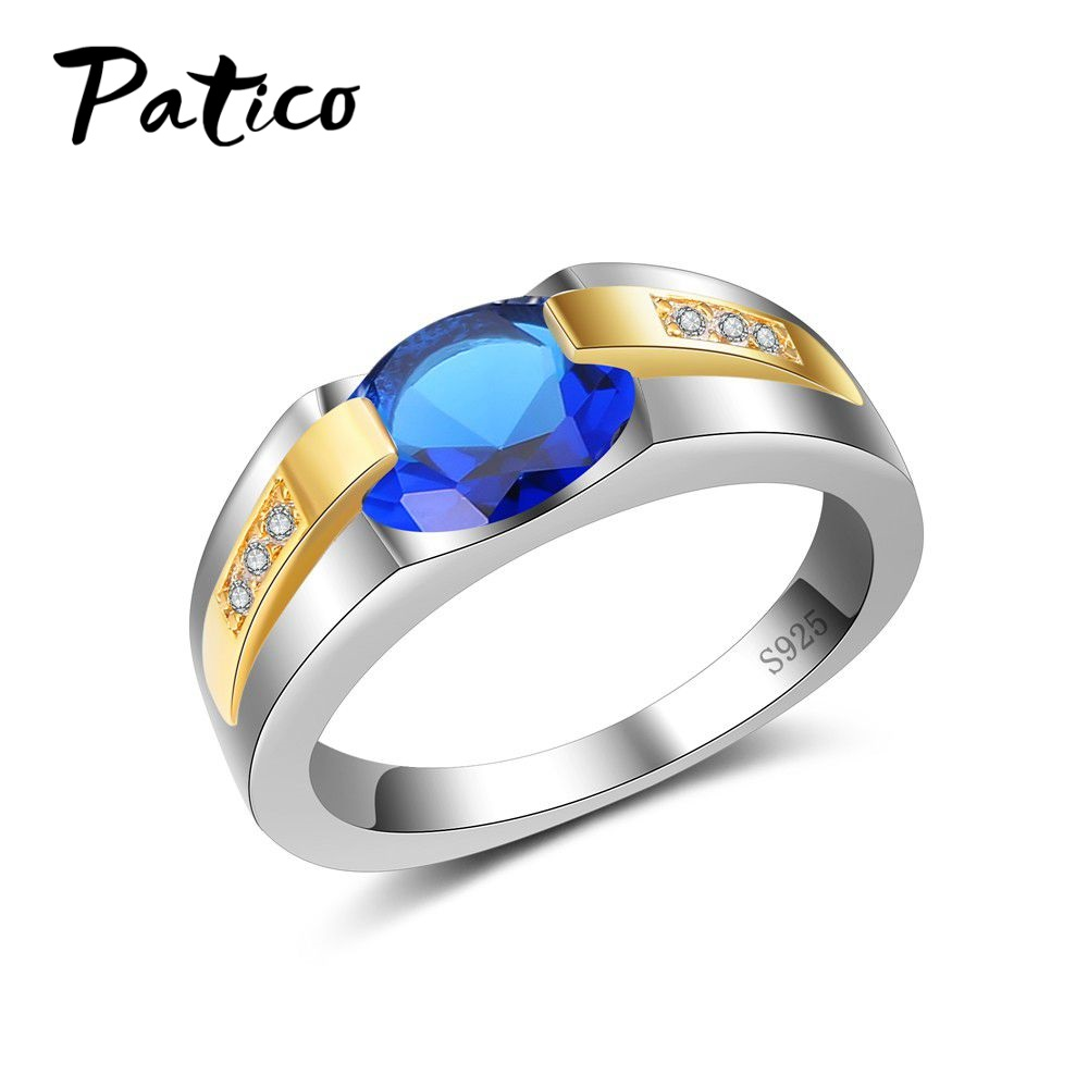 PATICO New Arrival 925 Sterling Silver Color Dazzling Charming 100% Cubic Zirconia CZ Party Royal Wedding Finger Ring for Lady
