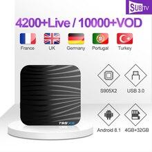 1 Year SUBTV IPTV Subscription T95X2 Canada France IP TV Code S905X2 Set Top Box Portuguese Polish Arabic Italy Turkish