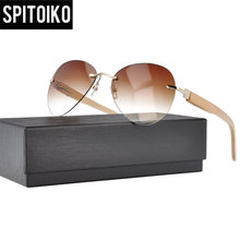 new arrive 15029 spring hinge popular rimless sunglass with bamboo temple sunglasses sunshades spectacles stainless steel cold storage door hinge cookware oven hinge refrigerator hinge steamer door industrial flat right angle hinge