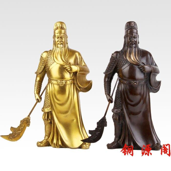 offer light copper font b knife b font bronze statue of Guan Gong Guan ornaments large