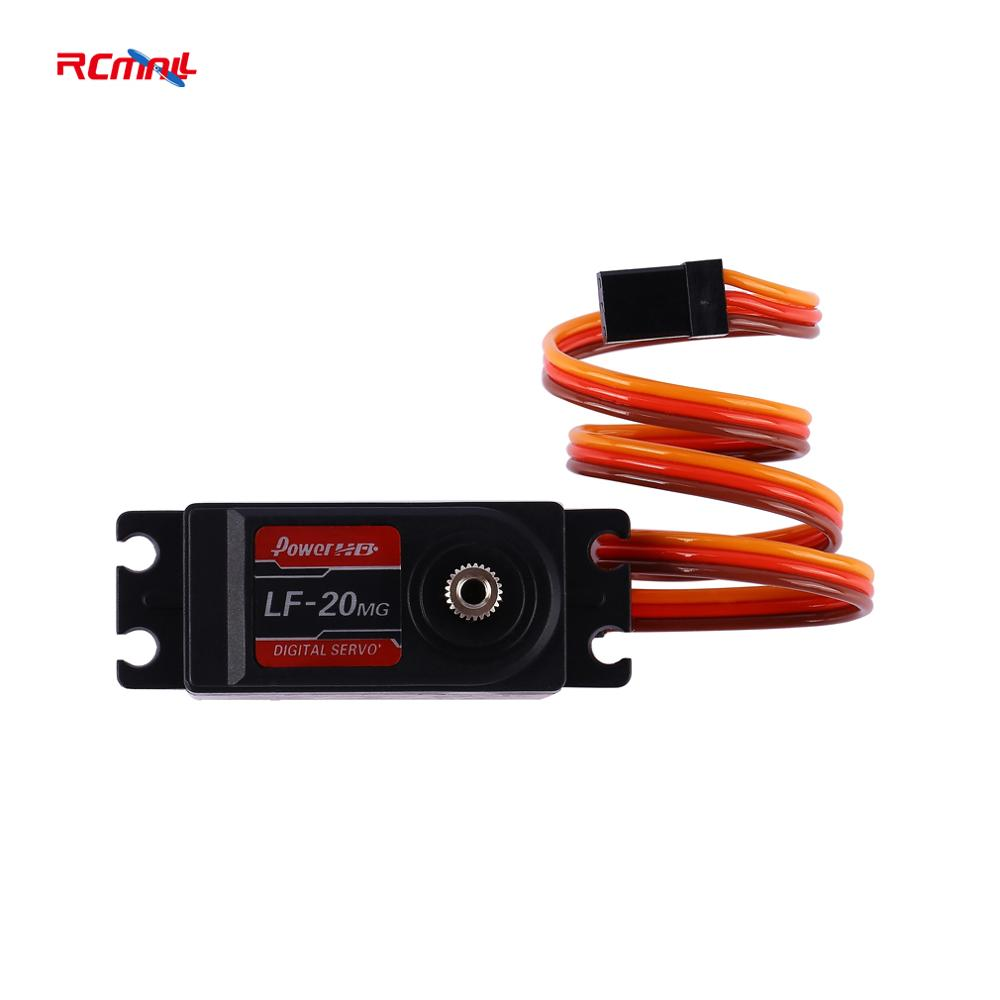 RCmall Power HD Digital Servo Motor 20KG 4.8-6.6V DC Metal Gear LF-20MG For Robot RC Car Planes Drones Quadcopter DR0757  dc 6v micro electric reduction metal gear motor for rc car robot model diy engine toys house appliance parts ve508re p12 0 35