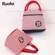 RUO FEI new Women Handbag Canvas Cartoon stripes Shoulder Beach Bags Casual Female Tote Shopping Bag Bolsa Feminina 2017 2017 fashion cartoon handbag tote shoulder stripe casual women ladies canvas bag simple cute mini girl bags bolsa feminina