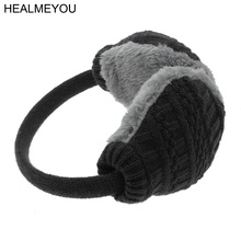 New Style Winter Earmuffs Women Men Warm Unisex Ear Cover Knitted Plush ear-cap Gift Hot