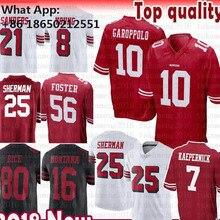 25 Richard Sherman 10 Jimmy Garoppolo Jersey 56 Reuben Foster 16 Joe Montana  Rice Sanders McGlinchey 213b4cb87