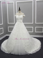 Sleeveless 2017 Wedding Gown Women Wedding Dress With Embroidery Organza And A Line Luxury Bridal Dress