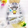 Hot Selling Long Sleeve Shirt+Pants 2Pcs Set Children Clothing Set 15 Types for Choice Round Collar Set Bear Clothes Kids Items