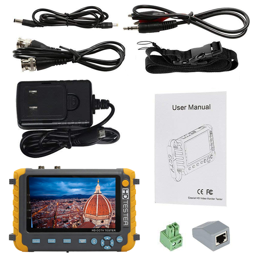 Image 2 - 2018 Upgraded IV8W 5 inch CCTV Tester Monitor 5MP 4MP TVI AHD CVI CVBS Security Camera Tester Support PTZ Audio VGA-in CCTV Monitor & Display from Security & Protection