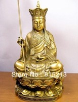 "Wang 00081 Çinli bronz Ksitigarbha Bodhisattva heykeli 8 ""Yüksek|statue|statue bronze  -"