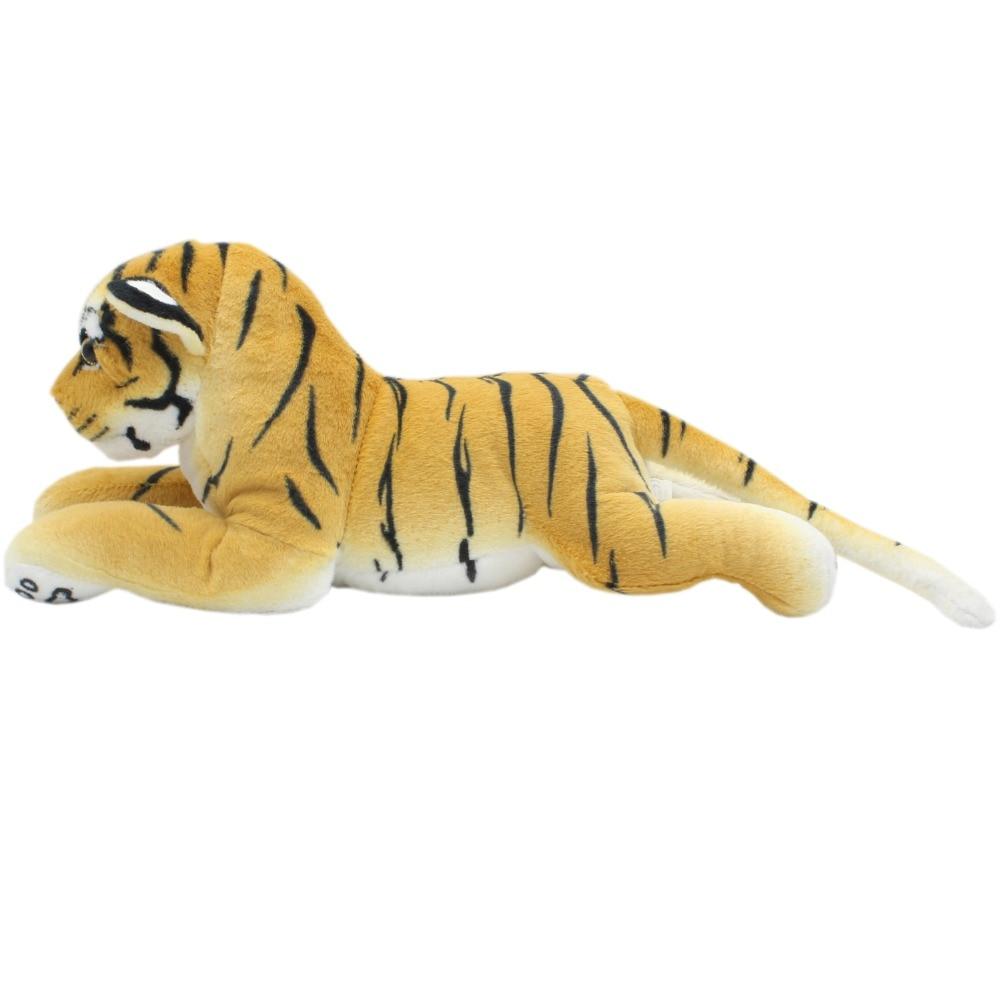 JESONN Realistiska fyllda djur Tiger Cheetah Panther Lion Lifelike Soft Plush Toys Leopard Lioness Kuddar för presenter, 45cm