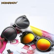 купить Round Frame Red Blue Silver Black lens Sun Glasses Polarized Mirror Sunglasses Custom Made Myopia Minus Prescription Lens -1to-6 по цене 1363.4 рублей