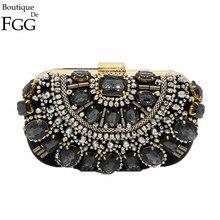 Berühmte Marke Frauen Handtaschen Schwarze Geldbörse Metall Kupplungen Silber Perlen Braut Hochzeit Box Clutch Bolsos Mujer