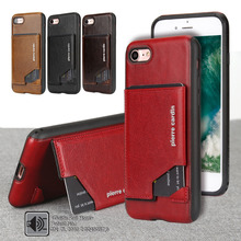 For Apple iPhone 7 7 Plus Phone Case Pierre Cardin Genuine Leather Case Slim Card Holder Stand Flip Leather Hard Cover Case