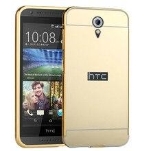 New Case For HTC Desire 620 620G Housing Mirror Back Cover & Aluminum Metal Frame Set Hard Phone Coque аксессуар чехол htc desire 620g armor white