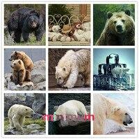 High Quality Gift Home Decor Painting Wild Animal 5D DIY Diamond Painting Bear Cross Stitch