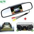 3in1 Видео Система Помощи При Парковке Датчик Резервное Копирование Радар С Заднего вида камера + 4.3 дюймов LCD Автомобиля Зеркало Заднего Вида Монитор Видео парковка