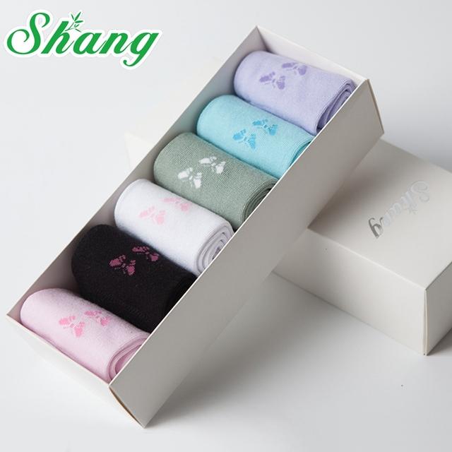BAMBU ÁGUA SHANG embalagem caixa de Presente Adorável cut borboleta das mulheres de fibra de bambu meias mulheres meias casuais LQ-9