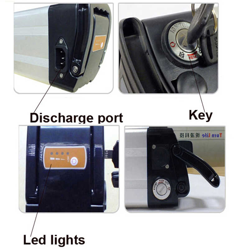 48V 15AH 1000w electric bike battery lithium battery power battery 48V 750w bike battery Aluminum housing with BMS and Charger
