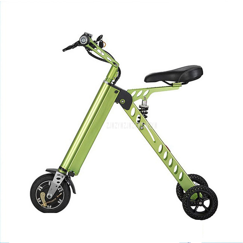 3 roues Mini Pliable Vélo Électrique Mini E-Vélo Pliable Vélo Batterie Au Lithium Scooter e-bike Scooter Smart skate Board Adulte