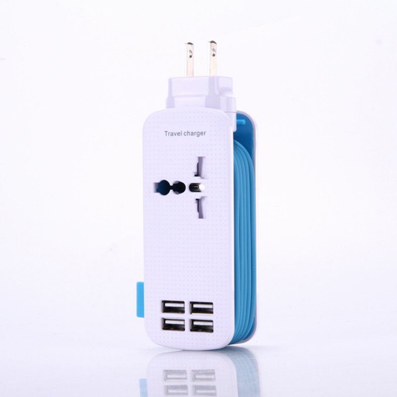 Usb smart adapter, multi-function socket portable power strip, home wiring board travel safety strip
