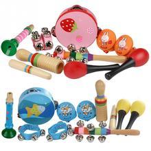 10 шт. Orff музыкальные инструменты набор детей раннего возраста музыкальные ударные игрушки комбинация детский сад обучающие средства