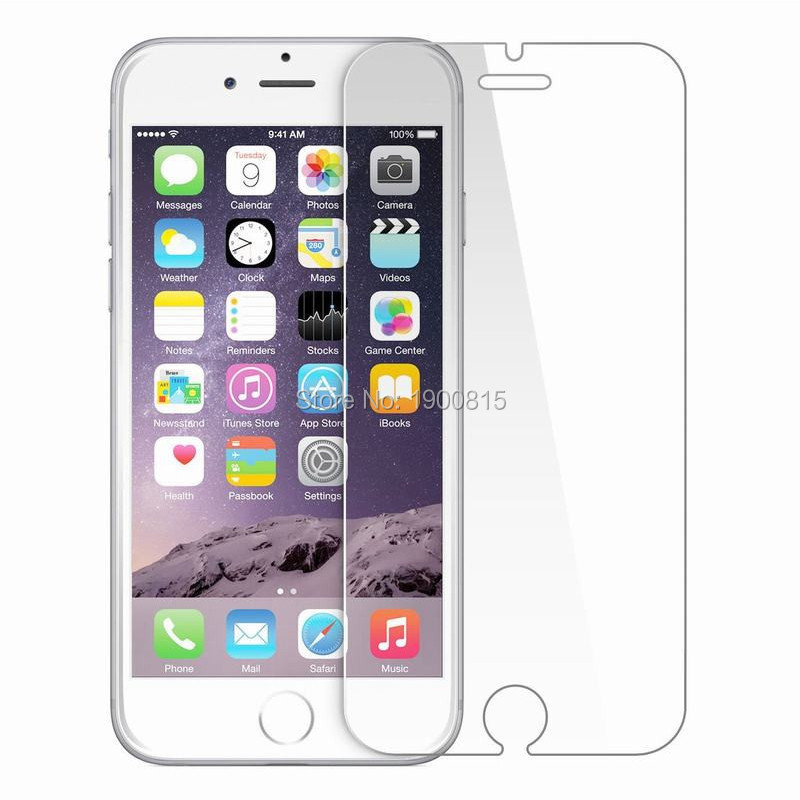 Clear Film Tempered Glass Screen Protector Protection en Verre trempe <font><b>ecran</b></font> protecteur For iphone6 <font><b>iphone</b></font> 6 <font><b>6S</b></font> 7 8 Plus X 5S SE image