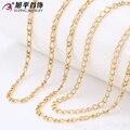 Xuping Collar de Moda Nuevo Diseño Grande Larga Necklace18K Oro Color Plateado Collar Mujeres Hombres Joyería de Cadena de Regalo Superior de La Venta 42220