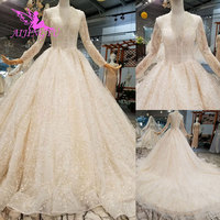 AIJINGYU Wedding Dress Rose Gown Lace Up Queen Sexy 2019 Simple Wear For Bride White Bridal Gowns