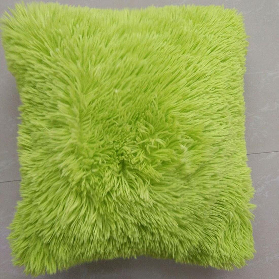Top Sale Perfect designs Mongolian Faux Fur Pillow Cover Cushion throw pillow Case Natural Color 45 x 45 cm