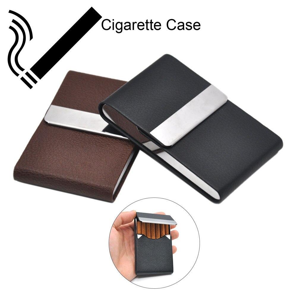 1PC Leather Cigar Cigarette Tobacco Pocket Box Storage Case Holder Wallet Cigarette Case Box Porta Sigarette Zigarettenetui