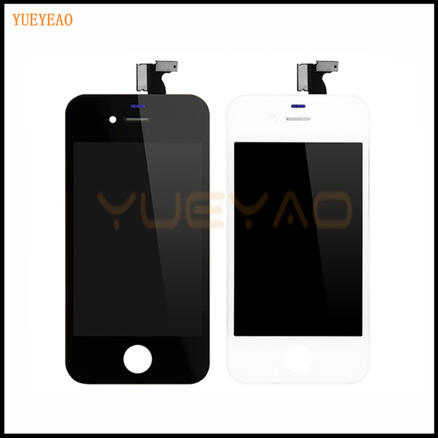 YUEYAO For iPhone 4 4G 4S A1332 LCD Display Digitizer Touch Screen Assembly A1332 Ecran Screen Replacement Mobile Phone Parts