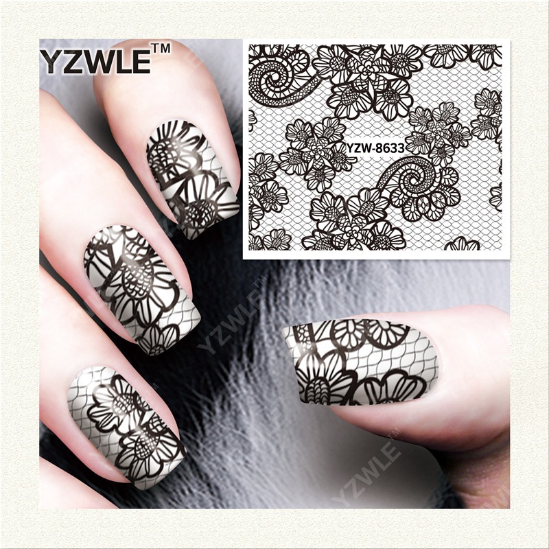 Zko 42 sheets diy decals nails art water transfer printing stickers accessories for nails salon yzwx 8629 8670 in stickers decals from beauty health