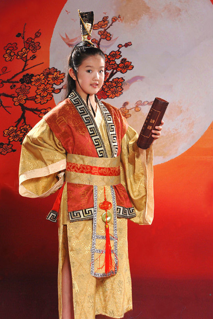 Dress up chinese - New 2014 Ancient Chinese Traditional National Folk Dance Children Costumes One Set Belt Boy Fancy Dress