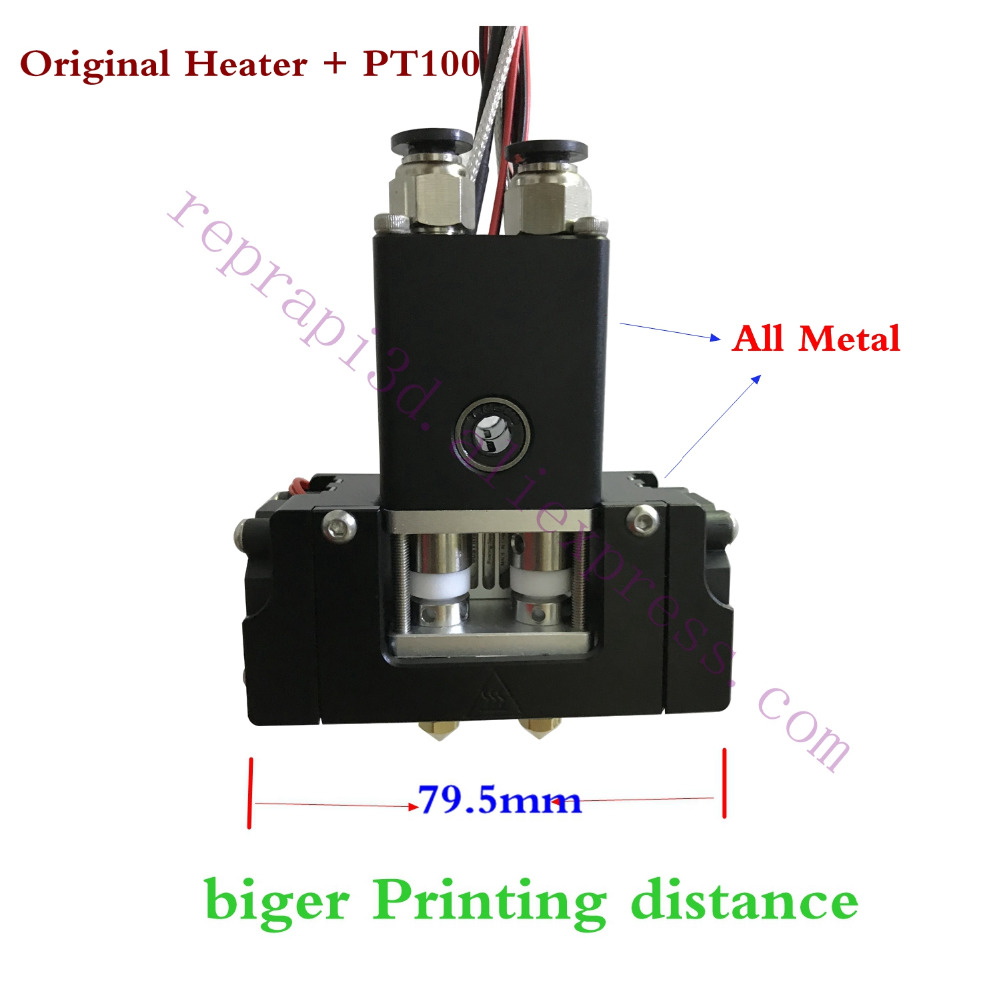 New! Single Or Dual Head Ultimaker 2+ Extended w/ Olsson Block Kit extruder Printhead, Ultimaker 2 3D printer Hot End quality um2 extended 3d printer full kit not assemble with master single nozzle