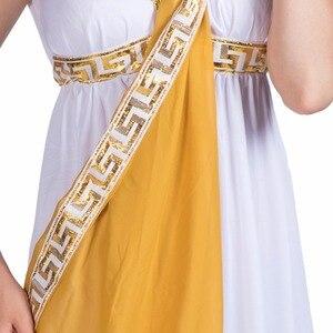 Image 5 - زي نسائي مثير للإلهة اليونانية للسيدات الرومانية زي مصري ثوب أبيض تنكري للحفلات التنكرية للإناث ازياء الهالوين للبالغين
