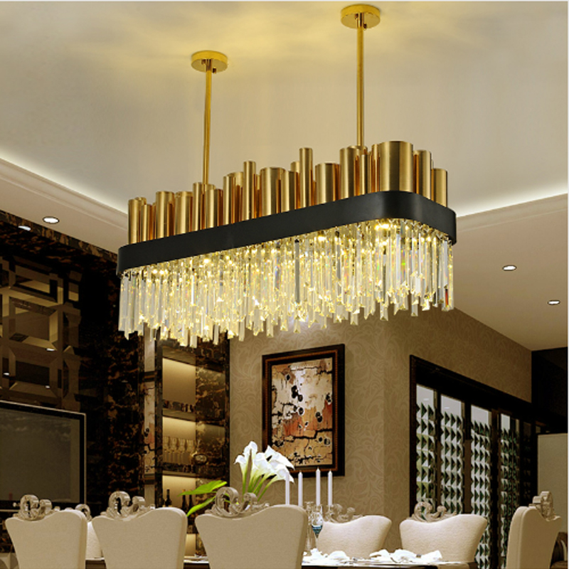 US $1327.7 15% OFF|Restaurant Decoration Industrial Pendant Lighting  Crystal Pendant Lamp LED Pendant Lights Kitchen Island Modern Pendant  Light-in ...