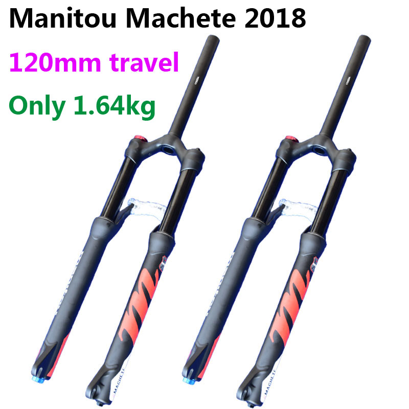 цена на Bicycle Fork 120mm Travel Manitou Machete 27.5er Mountain MTB Bike Fork suspension Matte Black PK SR SUNTOUR 2018