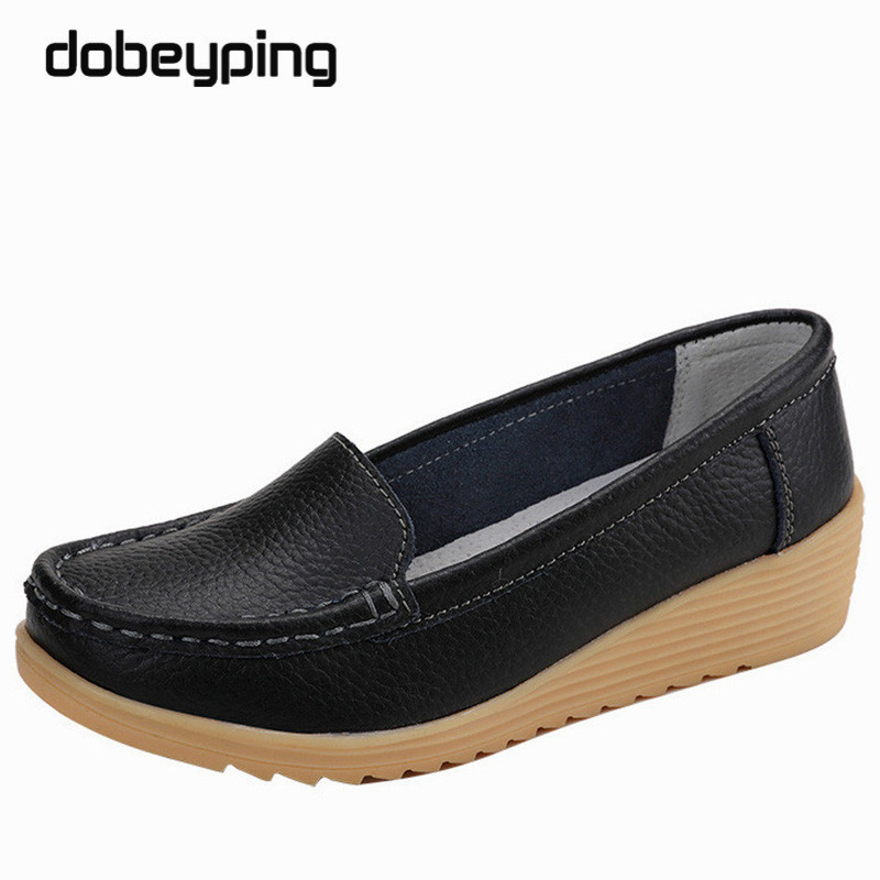 Non Slip Leather Women's Loafers Comfortable Woman Flats Moccasins Mom Shoes Solid Lady Casual Shoe New Pregnant Women Footwear рубашка для беременных pregnant mom baby
